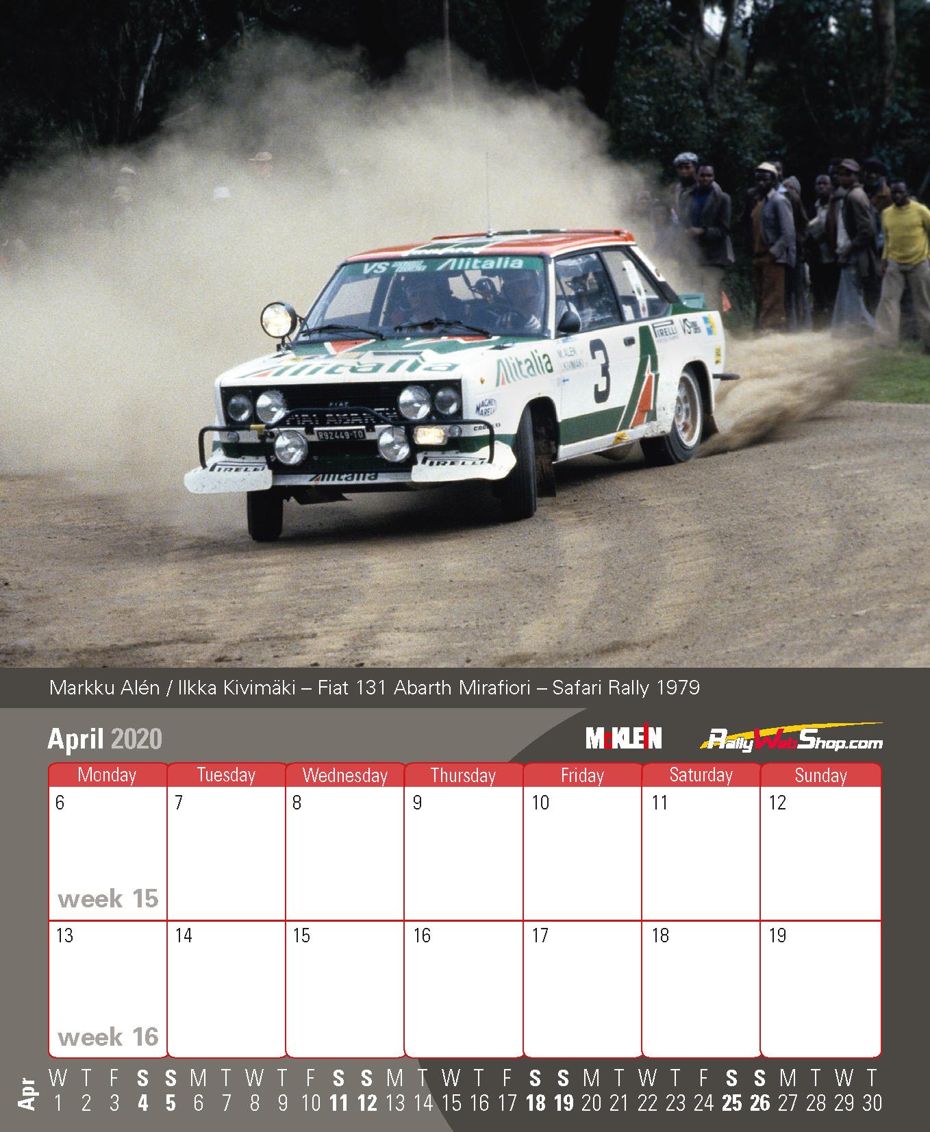 Rallycross 2020 Calendrier.2020 Desktop Rally Calendar History Meets The Present